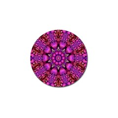 Pink Fractal Kaleidoscope  Golf Ball Marker 4 Pack