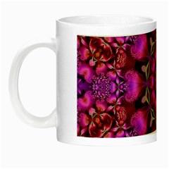 Pink Fractal Kaleidoscope  Glow In The Dark Mug