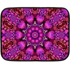 Pink Fractal Kaleidoscope  Mini Fleece Blanket (two Sided)