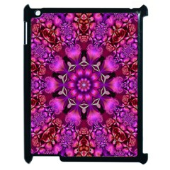 Pink Fractal Kaleidoscope  Apple Ipad 2 Case (black)