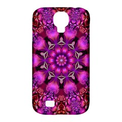 Pink Fractal Kaleidoscope  Samsung Galaxy S4 Classic Hardshell Case (pc+silicone)