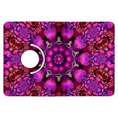 Pink Fractal Kaleidoscope  Kindle Fire Hdx Flip 360 Case