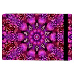 Pink Fractal Kaleidoscope  Apple iPad Air Flip Case