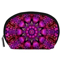 Pink Fractal Kaleidoscope  Accessory Pouch (Large)