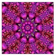 Pink Fractal Kaleidoscope  Large Satin Scarf (square)