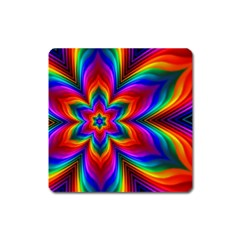 Rainbow Flower Magnet (square)