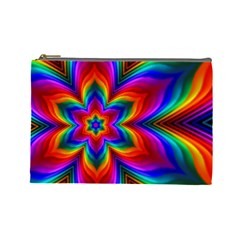 Rainbow Flower Cosmetic Bag (large)