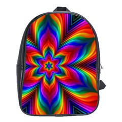 Rainbow Flower School Bag (xl)