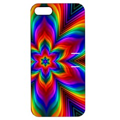 Rainbow Flower Apple Iphone 5 Hardshell Case With Stand
