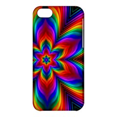 Rainbow Flower Apple Iphone 5c Hardshell Case