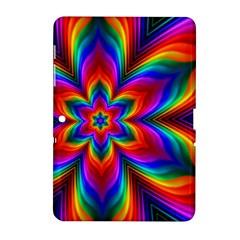 Rainbow Flower Samsung Galaxy Tab 2 (10 1 ) P5100 Hardshell Case
