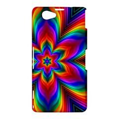 Rainbow Flower Sony Xperia Z1 Compact Hardshell Case