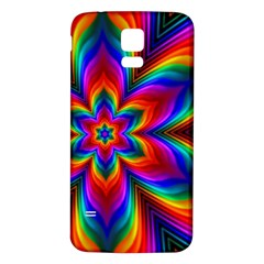 Rainbow Flower Samsung Galaxy S5 Back Case (White)