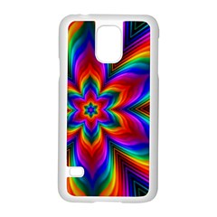 Rainbow Flower Samsung Galaxy S5 Case (White)