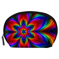 Rainbow Flower Accessory Pouch (Large)