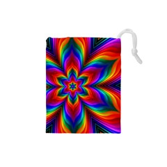 Rainbow Flower Drawstring Pouch (Small)