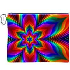 Rainbow Flower Canvas Cosmetic Bag (XXXL)