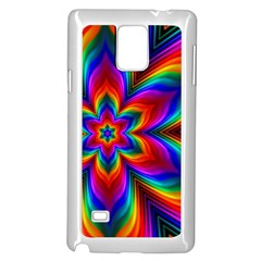Rainbow Flower Samsung Galaxy Note 4 Case (White)