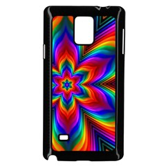 Rainbow Flower Samsung Galaxy Note 4 Case (Black)