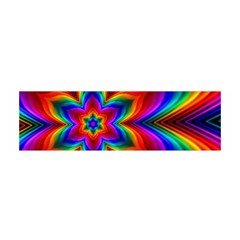 Rainbow Flower Satin Scarf (oblong)