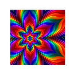 Rainbow Flower Small Satin Scarf (Square)