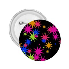 Colorful Stars Pattern 2 25  Button