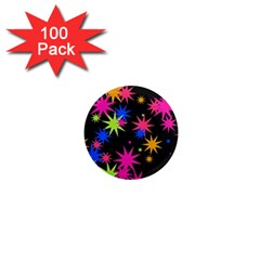 Colorful Stars Pattern 1  Mini Magnet (100 Pack)