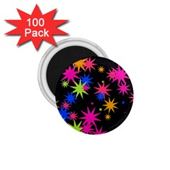 Colorful Stars Pattern 1 75  Magnet (100 Pack)