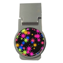 Colorful Stars Pattern Money Clip (round)