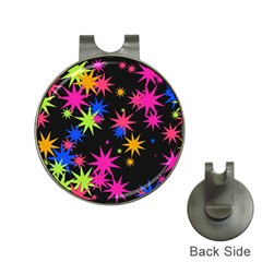 Colorful Stars Pattern Golf Ball Marker Hat Clip