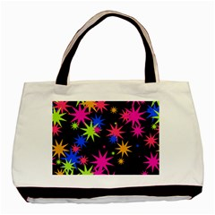 Colorful Stars Pattern Basic Tote Bag