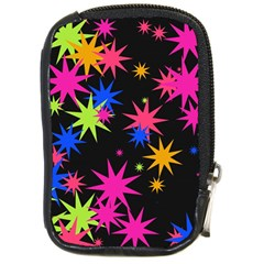 Colorful Stars Pattern Compact Camera Leather Case