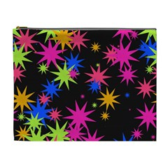Colorful Stars Pattern Cosmetic Bag (xl)