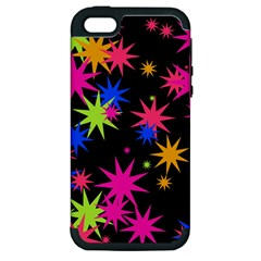 Colorful Stars Pattern Apple Iphone 5 Hardshell Case (pc+silicone)
