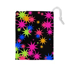Colorful stars pattern Drawstring Pouch