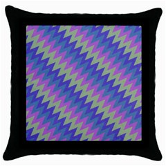 Diagonal Chevron Pattern Throw Pillow Case (black)
