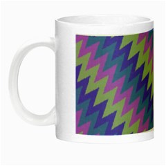 Diagonal Chevron Pattern Night Luminous Mug