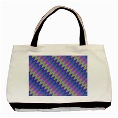 Diagonal Chevron Pattern Basic Tote Bag