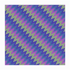 Diagonal Chevron Pattern Medium Glasses Cloth