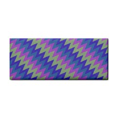 Diagonal Chevron Pattern Hand Towel