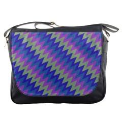 Diagonal Chevron Pattern Messenger Bag
