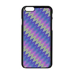 Diagonal chevron pattern Apple iPhone 6 Black Enamel Case