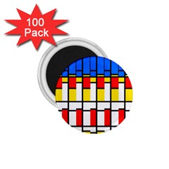 Colorful Rectangles Pattern 1 75  Magnet (100 Pack)
