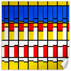 Colorful Rectangles Pattern Canvas 12  X 12