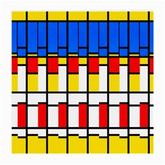 Colorful Rectangles Pattern Medium Glasses Cloth