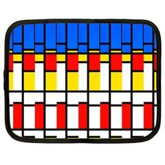 Colorful Rectangles Pattern Netbook Case (large)