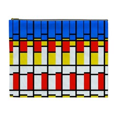 Colorful Rectangles Pattern Cosmetic Bag (xl)