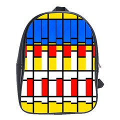 Colorful Rectangles Pattern School Bag (large)