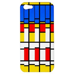 Colorful Rectangles Pattern Apple Iphone 5 Hardshell Case