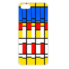 Colorful Rectangles Pattern Apple Iphone 5 Seamless Case (white)